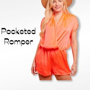 Neon Pocketed Romper